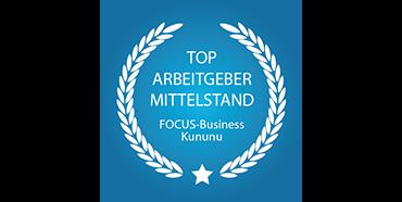Siegel Top Arbeitgeber Mittelstand Focus