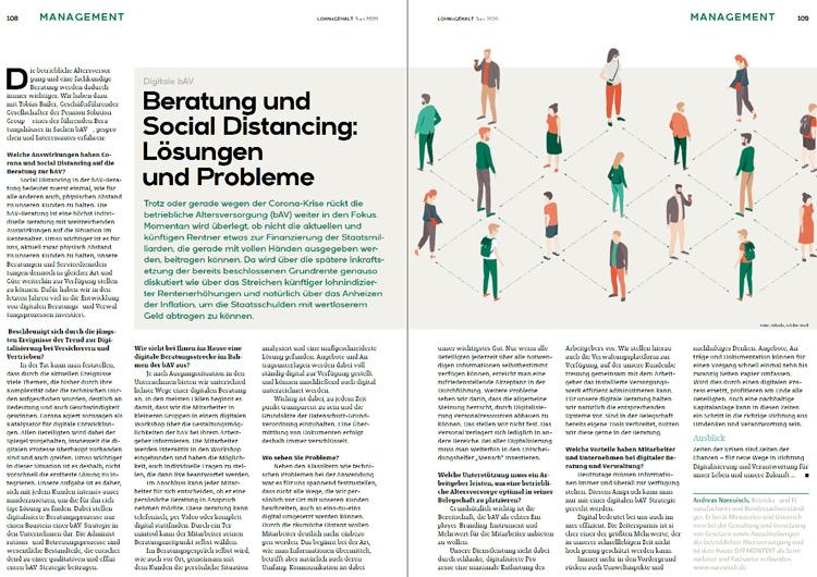Beratung und Social Distancing - Lösungen und Probleme (Lohn+Gehalt)